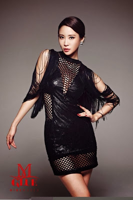 Nine Muses Sexy in Black Glue Photoshoot