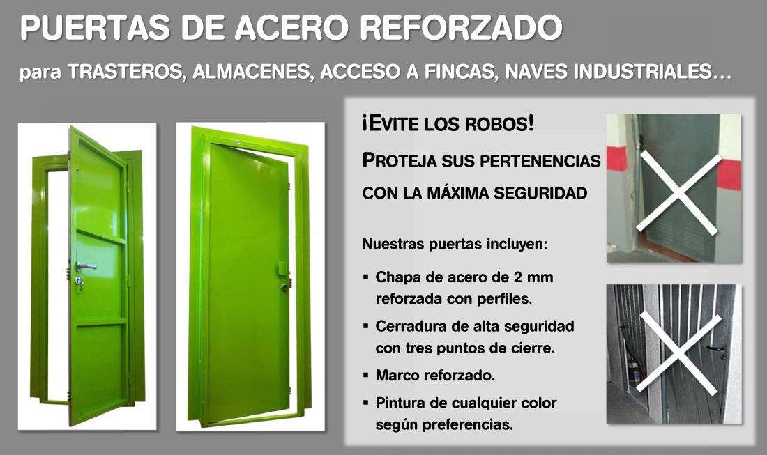 Puertas de acero reforzado para trasteros cerrajeros de for Puerta trastero seguridad