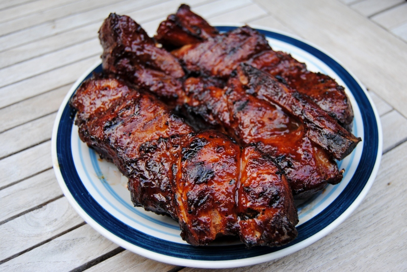 Grilled ribs recipe country style cooking signature - Ribs on the grill recipe ...
