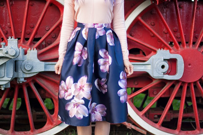 Skinny Buddha floral vintage skirt