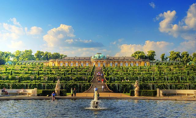 thăn quan lâu đài Sanssouci