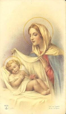 postal religiosa de la Virgen Maria
