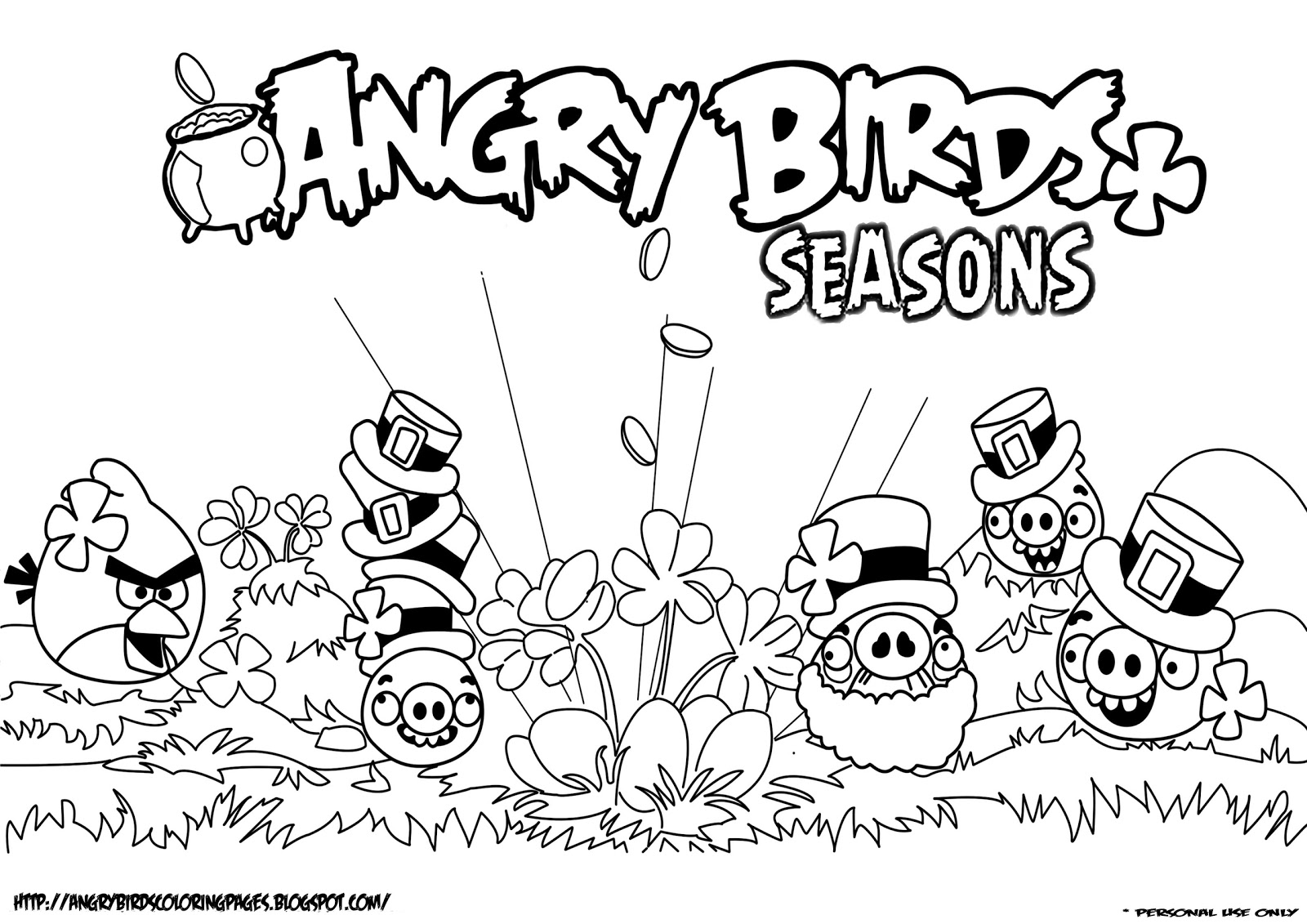 Bad Piggies coloring pages for kids