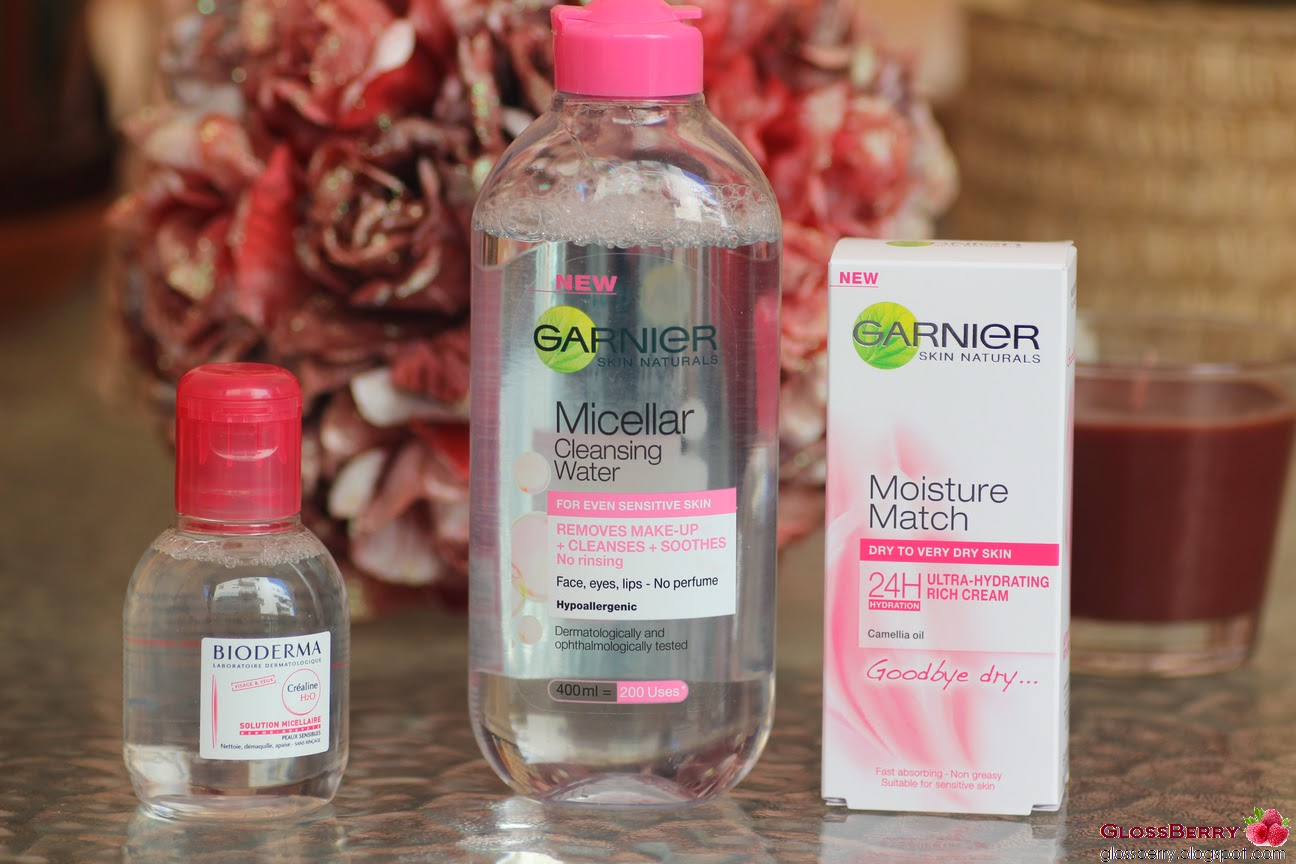 Bioderma, Garnier Micellar Water, Garnier Moisture Match
