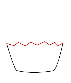 How To Draw A Kawaii Cupcake Step 2