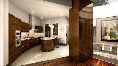 cocina casa subterránea moderna