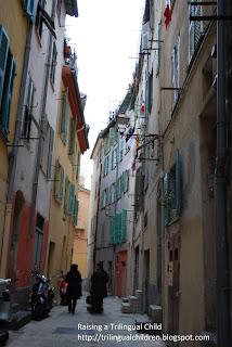 Narrow street in Italy