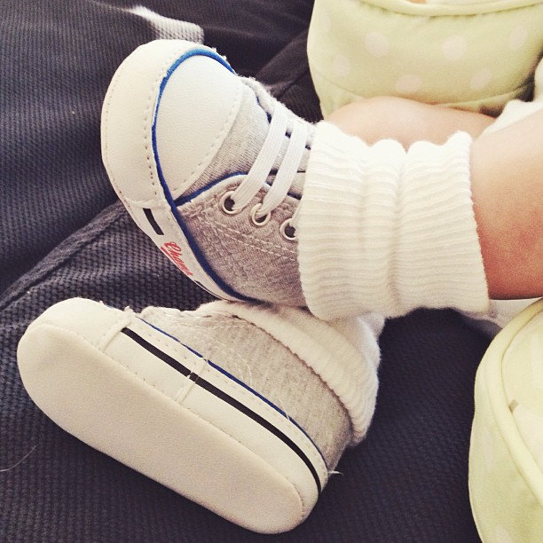 baby feet and baby shoes