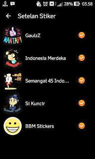BBM MR BLACK 2.9.0.51 APK (Free Sticker)
