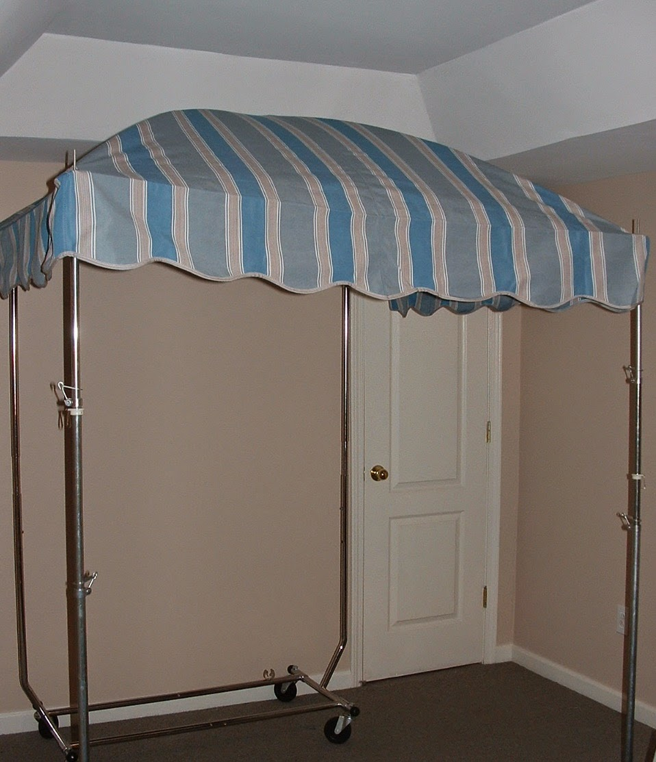 Vintage Awnings Vendor 39 S Awning On A Rolling Garment Rack