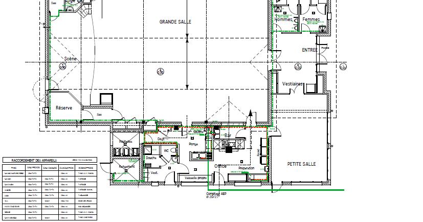 Plan plomberie cadwg maroc for Plan de maison avec autocad