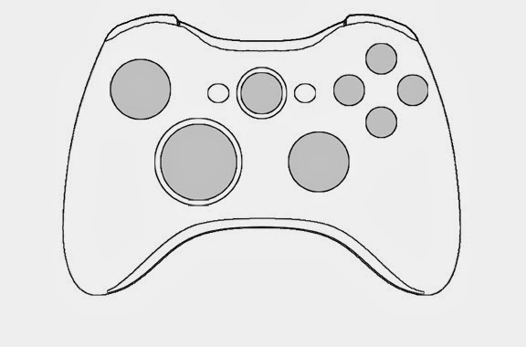 Xbox 360 Printable Coloring Pages : Xbox one controller template free engine image for