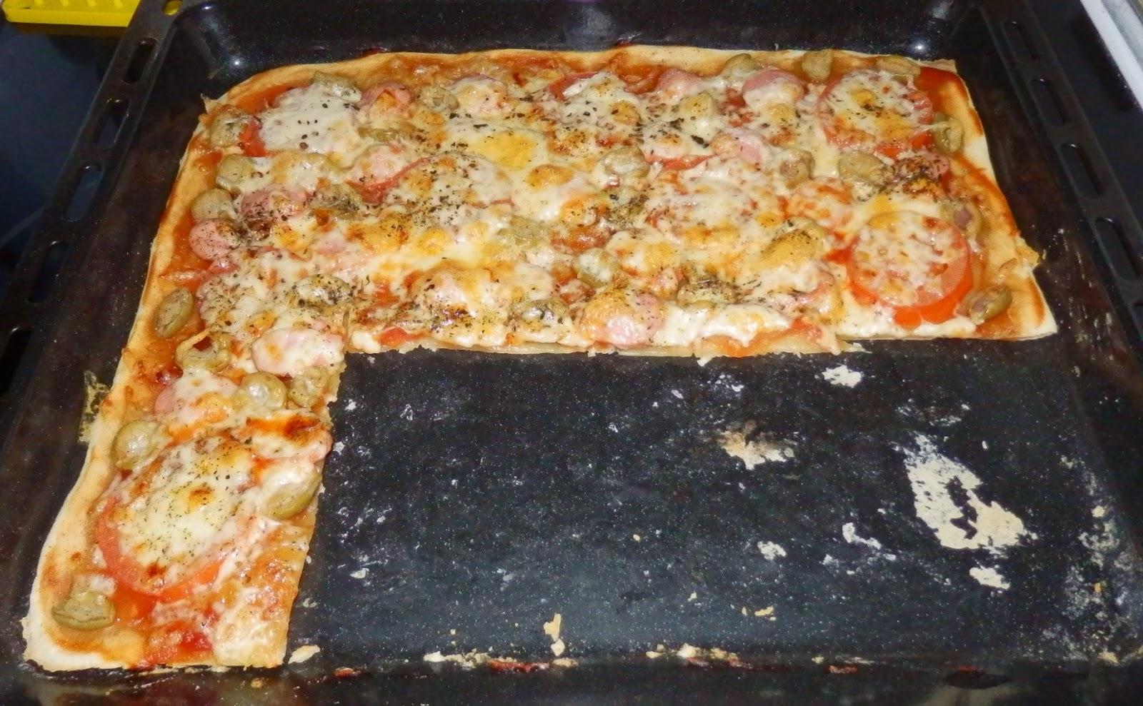 Пицца без дрожжей на молоке 90