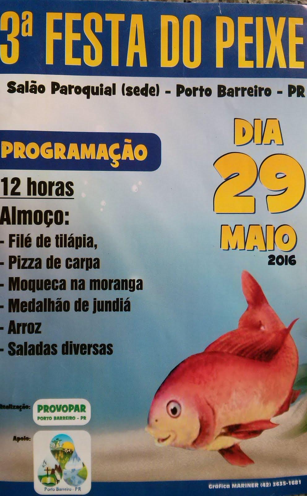 Porto Barreiro:Vem aí a 3ª Festa do Peixe !!!
