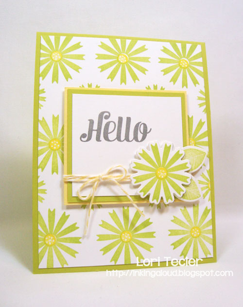 Funky Flowers Hello-designed by Lori Tecler-Inking Aloud-stamps and dies from Waltzingmouse Stamps