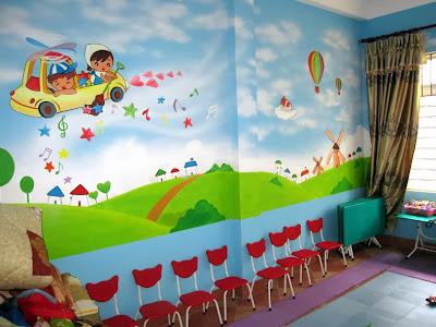 vẽ tranh tường mầm non,mẫu giáo,thiếu nhi