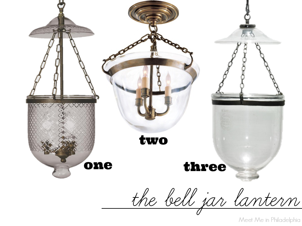 the bell jar lantern via Meet Me in Philadelphia