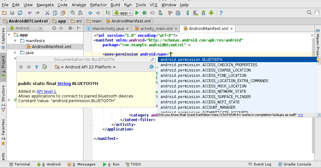how to ask for permissions in android studio java
