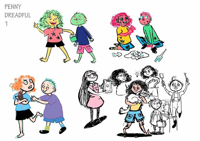 Character Design Intern : Jessica y l illustration king bee studios internship