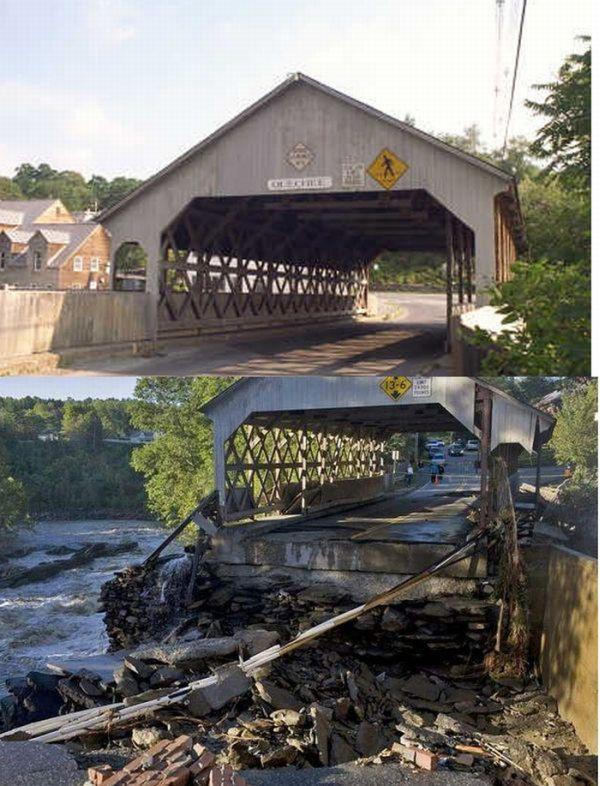 Antes y después del huracán Irene