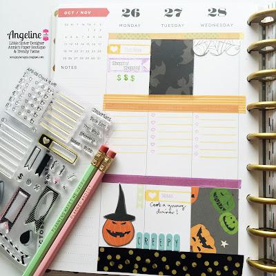 Trendy Twine: Planner Friday - Halloween week #trendytwine #planner #checkitoff #halloween #planneraddict