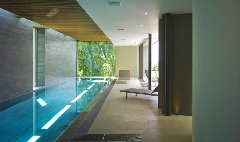 Casas minimalistas y modernas piscinas internas minimalistas - Casas con piscina interior ...