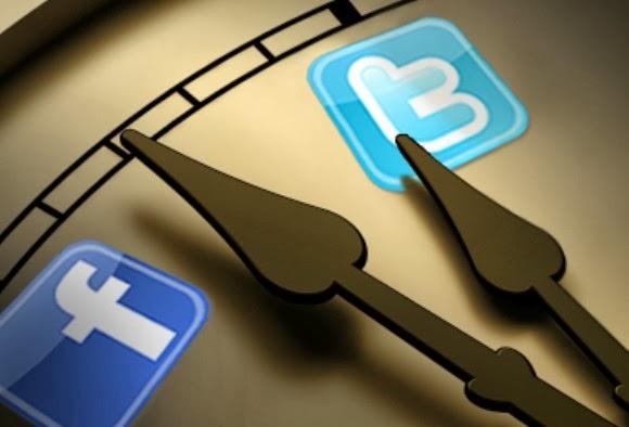 شاهد أفضل الأوقات التي تقضى في التغريد على التويتر و إشتراكات الفيس بوك