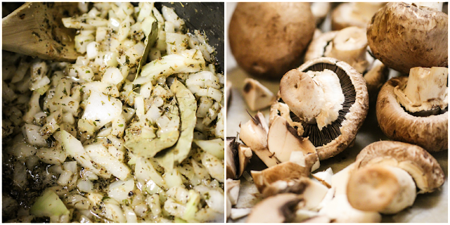 While The Onions And Spices Toast Chop Up Your Mushrooms Into Various Shapes And Sizes Once The Onions Are Done Throw Your Mushrooms And The