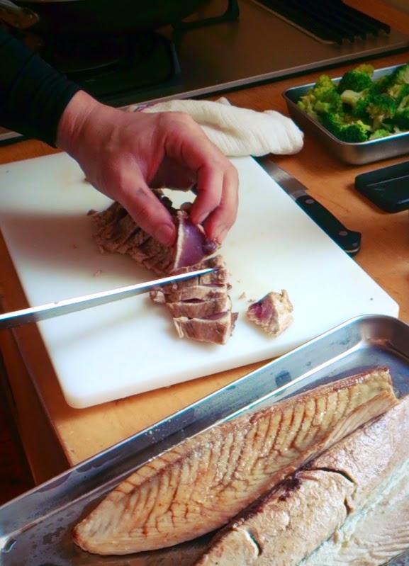 My Chef 1周年記念&試食会 鰹のカルパッチョ 香味ソース ズッキーニと人参のラペ