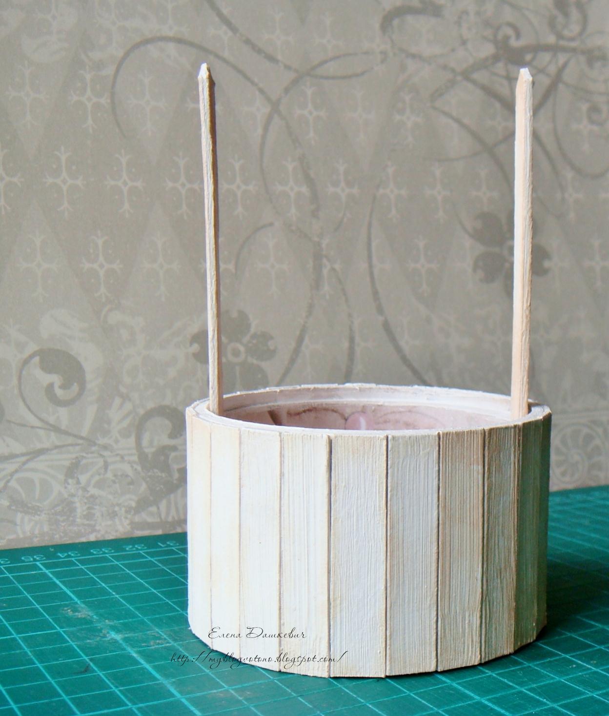 Как сделать колодец из палочек для мороженого 20