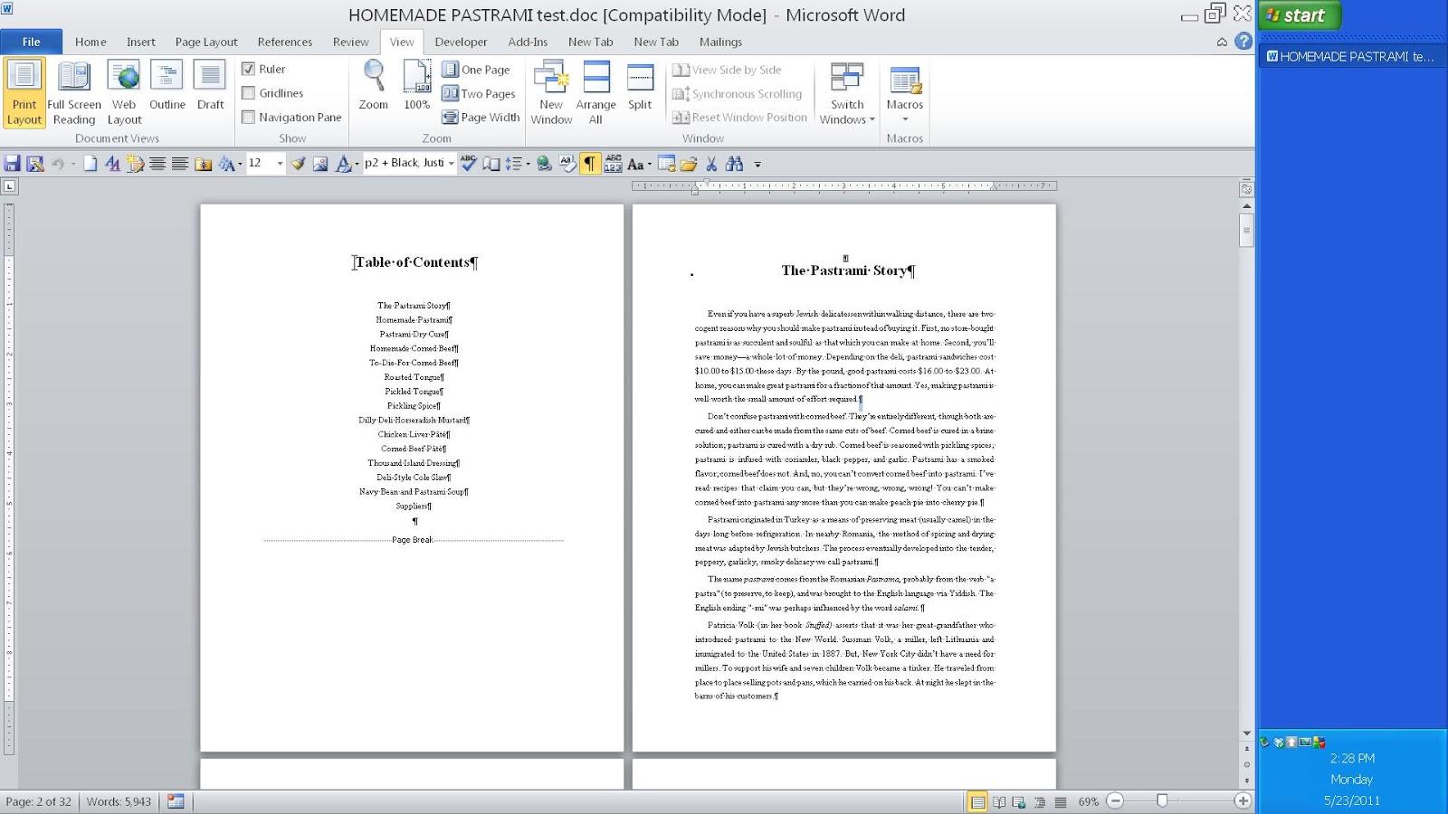 Как сделать оглавление или содержание в документ Word 2007 60