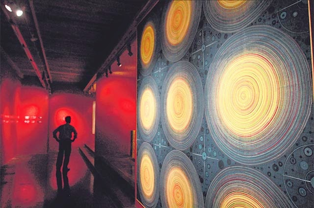 An artistic show for contemporary Indian textiles at Devi Art Foundation | Music of the spheres