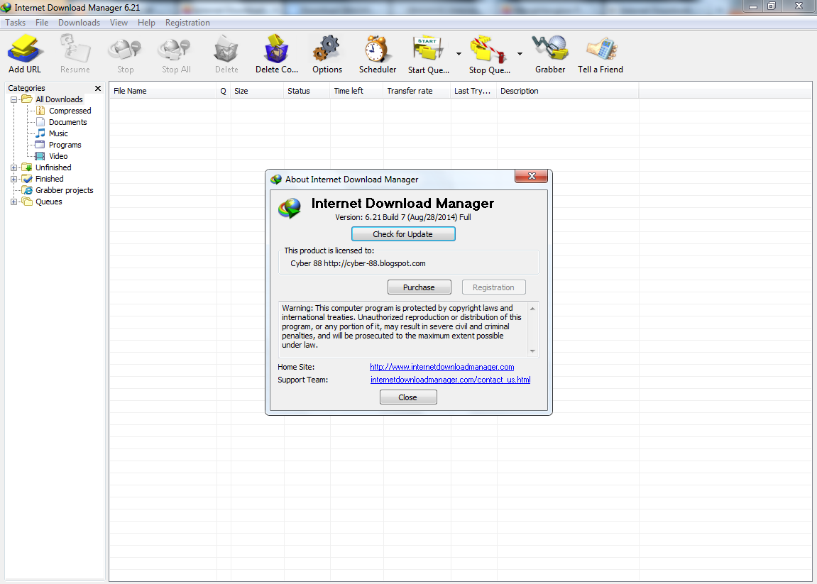 Internet Download Manager 6.21 Build 7 Full Version + Patch