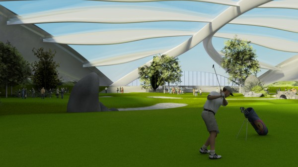 10 futuristic design concepts creative designers for Indoor golf design