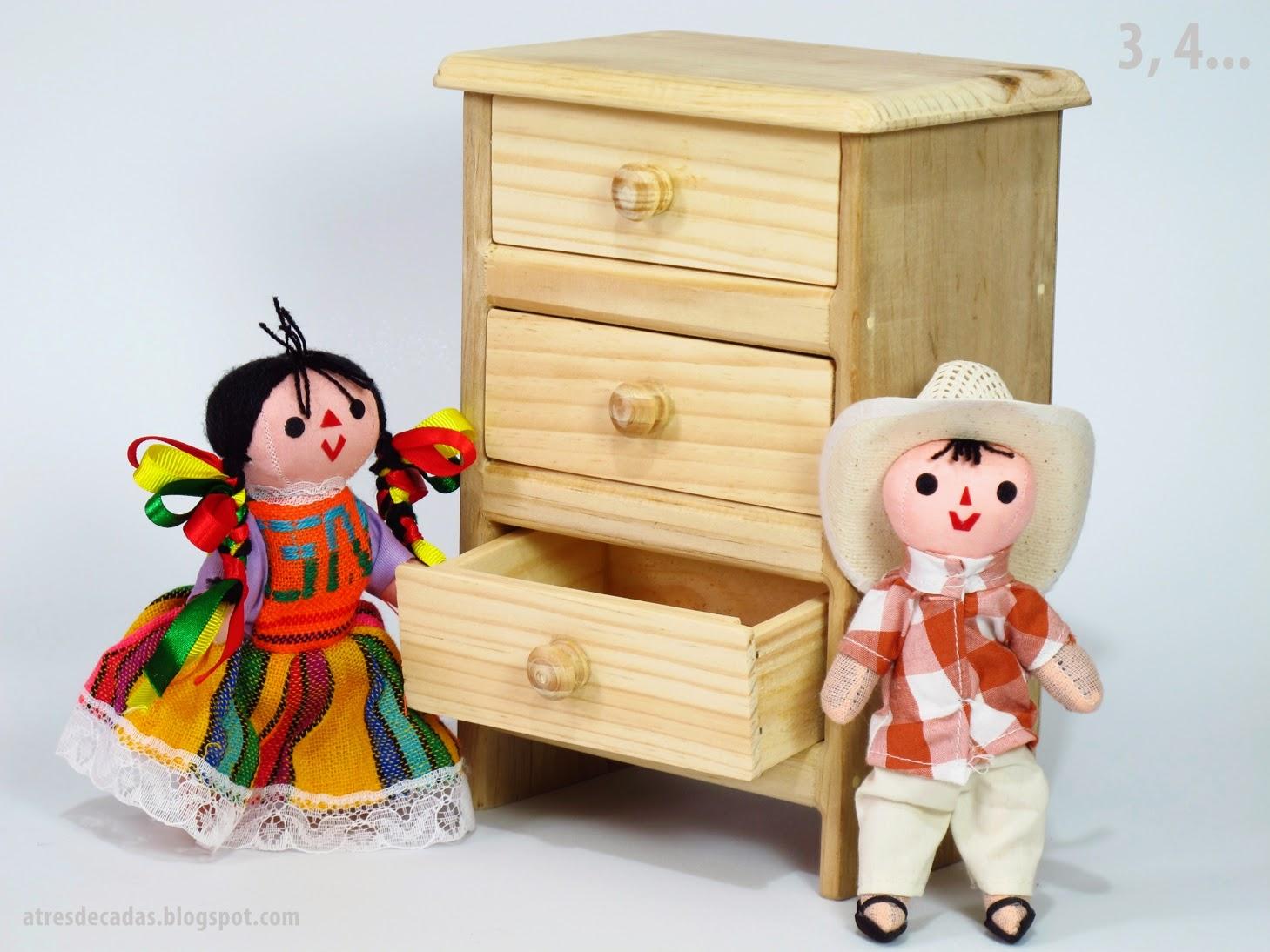 Tressiete muebles de madera de juguete de tlacolula - Muebles artesanales de madera ...