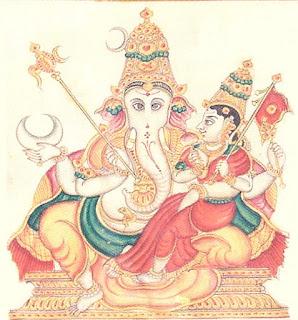 Vara Ganapati pictur, 32 formsof Ganesha
