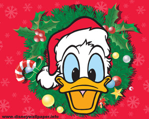 Donald Duck Christmas Wallpaper