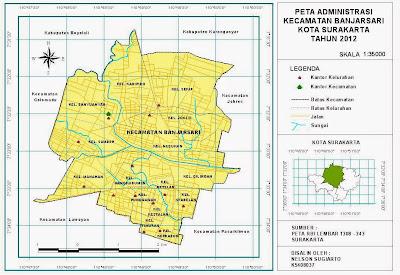 Peta Administrasi Kecamatan Banjarsari Kota Surakarta