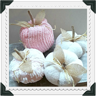 Craft a patch of Shabby Chenille Pumpkins for fall!  |  DIY beautify