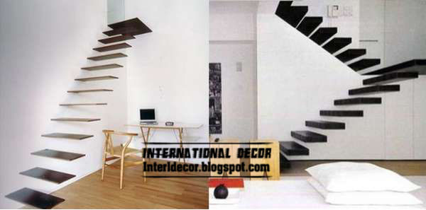 Modern interior stairs and flying staircase designs for Stair designs interior