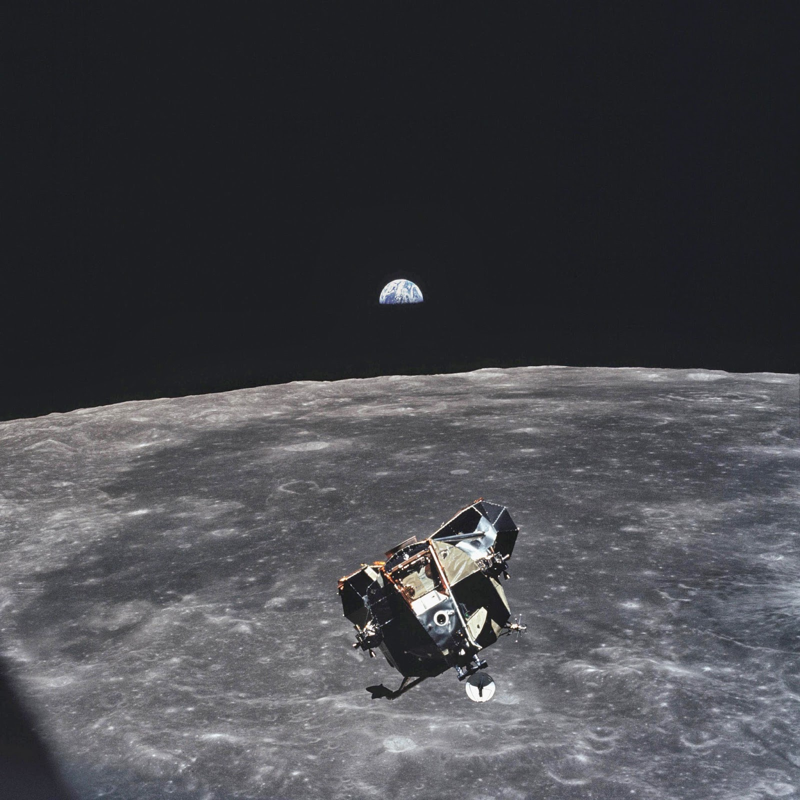 Michael Collins The Astronaut Who Took This Photo Is Only Human Alive Or Dead That Isnt In Frame Of Picture 1969