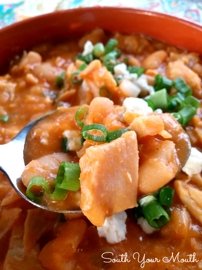 south your mouth  buffalo chicken chili