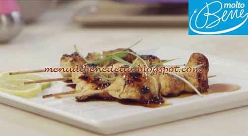 Yakitori ricetta Parodi per Molto Bene su Real Time