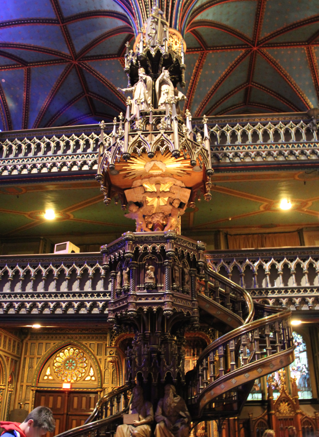 Notre Dame Basilica, Montreal - Pulpit