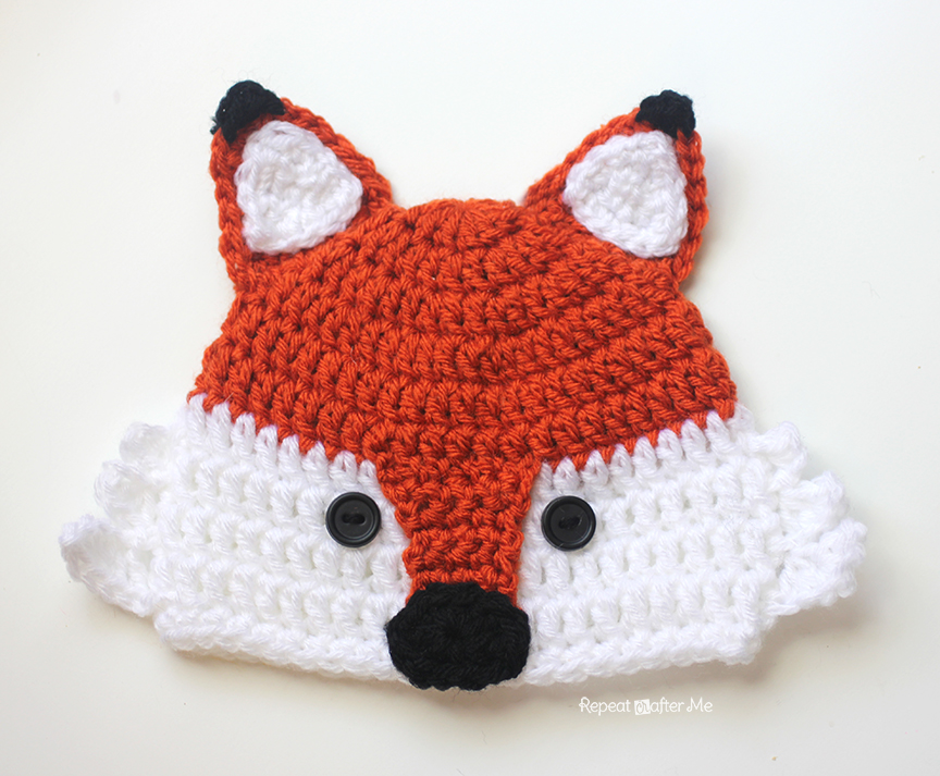 Crochet Fox Hat : Crochet Fox Hat - Repeat Crafter Me