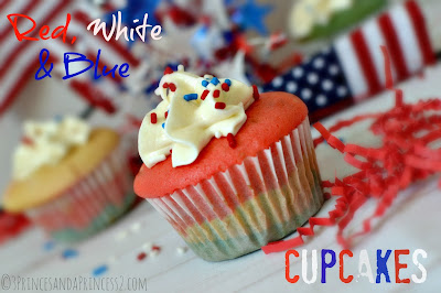 How to make Red, White & Blue Cupcakes