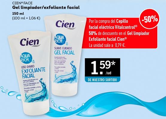gel limpiador y exfoliante facial Cien de Lidl