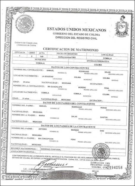 Matrimonio Catolico Documentos : Documento de matrimonio civil imagui