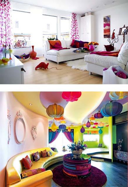 diseños salas coloridas