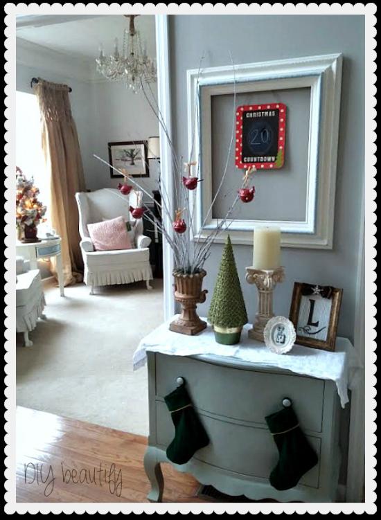 Christmas entry DIY beautify blog